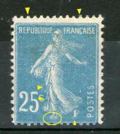 """N° 140 IB*-""""Pied Coupé""""_signature En Haut_bleu Dans Chiffres_cote 225.00+_trace De Rouille Au Verso - Variétés Et Curiosités"""