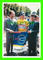 CYCLISME - TOUR 2001, PERPIGNAN (66) - DÉPART 12e ÉTAPE, PERPIGNAN- AX-LES-THERMES - FRANÇOIS SIMON, BOURQUIN, ARDUY - Cyclisme