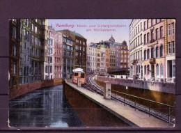 AK HAMBURG- Hoch U. Untergrundbahn Am Mönkedamm, Karte Gel. 1917 - Sonstige