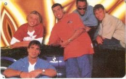 TARJETA DE CHILE DEL GRUPO BACKSTREET BOYS (SIN ACTIVAR) - Música