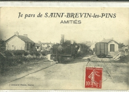 ST BREVIN  TRAIN   C.M 20 EN GARE  AMITIES - Saint-Brevin-les-Pins