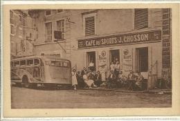 SURY LE COMTAL  CAFE TABAC  CHOSSON   AUTOCAR PERSONNAGES ACTION - Otros Municipios