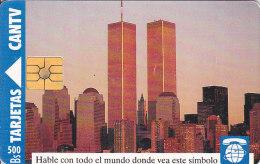 Venezuela, CAN2-0015-2, International Access, New York, Twin Towers, 2 Scans. - Venezuela