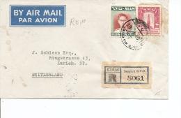 Siam ( Lettre En Recommandé De 1949 Vers La Suisse à Voir) - Siam
