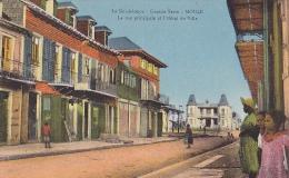 FRA50  --  GUADELOUPE  --   GRANDE - TERRE  --  MOULE  --  LA RUE PRINCIPALE ET L `HOTEL DE VILLE - Guadeloupe