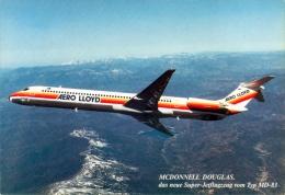 AK Flugzeug Aero Lloyd McDonnell Douglas Typ MD-83 Jet- Deutschland Airplane GERMANY Avion Aereo Aviation Flieger - 1946-....: Moderne