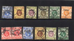 British PO In China Old Stamps Cancels Lot #033 - Usati