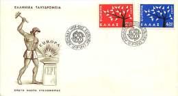 1962  Europa FDC Non Adressé - FDC