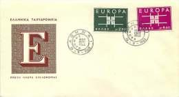 1963  Europa FDC Non Adressé - FDC