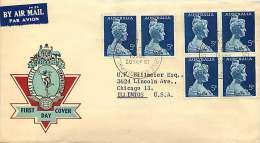 1961  Nelly, Block Of 4 Plus Pair On Post Office Generic Cover To USA - FDC