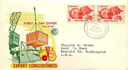 1963  Exports  Pair On WCS Cover T USA - FDC