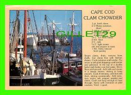 RECEIPE - RECETTE - CAPE COD CLAM CHOWDER - CIRCULÉE EN 1989 - - Recettes (cuisine)