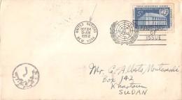 10182 UNITED NATIONS NEW YORK TO  KHARTOUM SUDAN - YEAR 1952 - New York - Sede De La Organización De Las NU