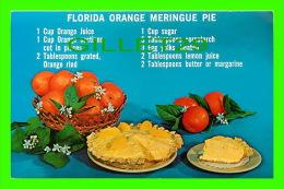 RECIPES - RECETTES - FLORIDA ORANGE MERINGUE PIE - - Recettes (cuisine)