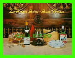 RECIPES - RECETTES - LA FONDUE SUISSE - SWISS FONDUE - - Recettes (cuisine)