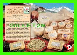 RECIPES - RECETTES - RAVIOLES AU BEURRE SALÉ, CIBOULETTE ET DÉS DE POIVRON - - Recettes (cuisine)