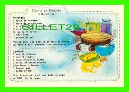 RECIPES - RECETTES - TARTE A LA FARLOUCHE DU QUÉBEC - MOLASSES PIE FROM QUEBEC - - Recettes (cuisine)