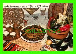 RECIPES - RECETTES - AUBERGINES AUX POIS CHICHES - - Recettes (cuisine)