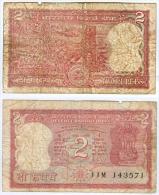 Banknote 2 Indische Rupien Indien India Rupees IR Re Rs Rupie Rupee Geldschein Indian Note Geld - Indien