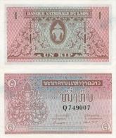 Banknote 1 Kip Laos LAK Lao Geldschein Asien Asia Geld Indochina Indochine Note Money - Laos