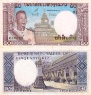 Banknote 50 Kip Laos LAK Lao Geldschein Asien Asia Geld Indochina Indochine Note Money - Laos