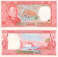 Banknote 500 Kip Laos LAK Lao Geldschein Asien Asia Geld Indochina Indochine Note Money - Laos