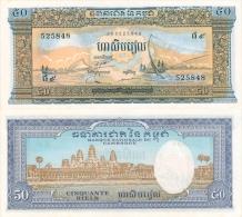 Banknote 50 Riel Kambodscha KHR CR Cambodge Cambodia Geldschein Asien Indochina Note Money Geld - Kambodscha