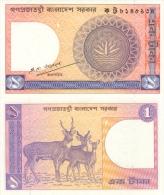 Banknote 1 Taka Bangladesch Bangladesh BDT Tk. Takas Asien Asia Geld Geldschein Note Money - Bangladesch