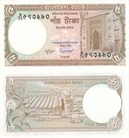 Banknote 5 Taka Bangladesch Bangladesh BDT Tk. Takas Asien Asia Geld Geldschein Money - Bangladesch
