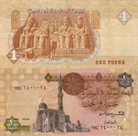 Banknote 1 Ägyptisches Pfund Pound EGP LE £E Ägypten Egypt Egyptian Geldschein Note Égypte Egypte Money - Egypte