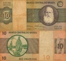 Banknote 10 Cruzeiro Brasilien Brasil Brazil Dez Curuzeiros Money Geldschein BRP Note Geld - Brasilien