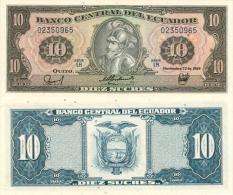 Banknote 10 Ecuadorianische Sucres ECS Ecuador 1988 Ecuadorianischer Sucre Geld Note Money Geld - Ecuador