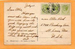 Old Postcard Mailed To USA - Mónaco