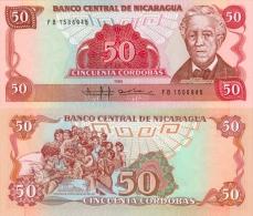 Banknote 50 Cordobas Oro Nicaragua NIO C$ Geldschein Geld Cordoba Geld Note Bank Mittelamerika - Nicaragua