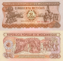 Banknote 50 Meticais Mosambik Metical MZN MTn Moçambique Mozambique Geldschein Note Geld Money - Moçambique