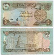 Banknote ½ Half Dinar Irak Iraq IQD Geldschein Money Note Geld Asien Asia Schein - Irak