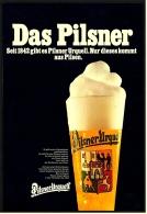 Reklame Werbeanzeige  ,  Pilsner Urquell  -  Das Pilsner  -  Nur Dieses Kommt Aus Pilsen ,  Von 1977 - Alkohol