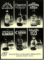 Reklame Werbeanzeige  ,  Eggers & Franke Bremen ,  Calvados - Chaperon - Bobadilla  -  Von 1971 - Alkohol