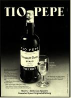 Reklame Werbeanzeige  ,  Tio Pepe Sherry  -  Gonzales Byass Jerez  -  Von 1975 - Alkohol