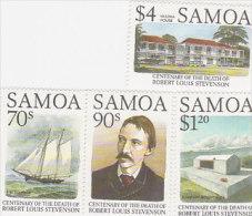 Samoa Mint Never Hinged Stamps1994 Robert Stevenson - Samoa (Staat)