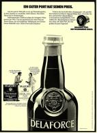 Reklame Werbeanzeige  ,  Deltaforce  -  Ein Guter Port Hat Seinen Preis  -  Von 1974 - Alkohol