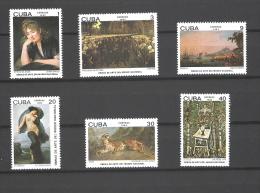 Cuba 1982 Musee National Peintures MNH ** Yvert 2362-67 - Cuba