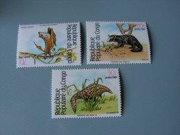 == Congo  Fauna 1983Fledermaus   930  A Bis C  ** MNH   € 25,00 - Kongo - Brazzaville