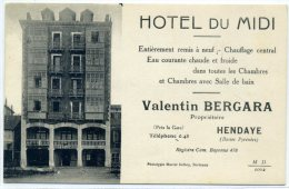 64 - HENDAYE - Hôtel Du Midi - Hendaye