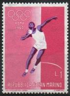 San Marino 1960 - Olimpiadi Roma Olympic Games Rome Lancio Del Peso, Shot Put MNH ** - Atletismo