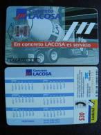 Chip Phone Card From Mexico, Ladatel Telmex, Auto Car Lacosa Calendar - Mexico