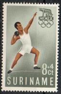 Suriname 1960 - Olimpiadi Di Roma Olympic Games Rome Lancio Del Peso Shot Put MNH ** - Surinam
