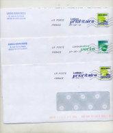 Pap Carte De France Flamme Poste Chiffree - Enteros Postales