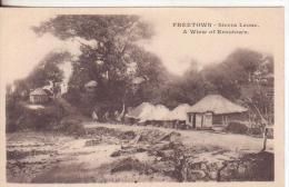 6-Freetown-Sierra Leone-Tipi,costumi, Abitazioni-villagi-Types Costumes, Housing-maisons-campament V.1906 - Sierra Leone