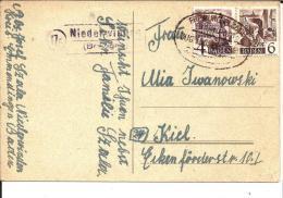Frz130/ Baden, Mi.Nr.29 + 31 Per Bahnpost. Freiburg-Grenzach + Landpost Niederwinden - Zona Francese
